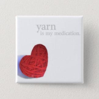 ヤーンの薬物のハートボタン 缶バッジ