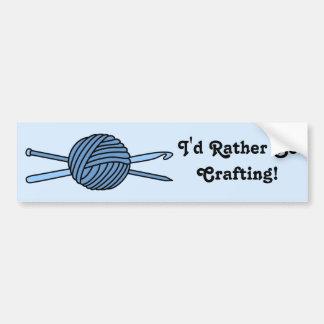 ヤーンの青い球(ニット及びかぎ針編み) バンパーステッカー