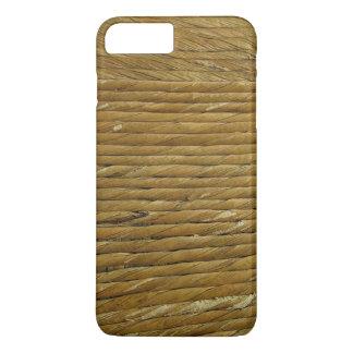 ヤーンの麻ひもロープの質の背景 iPhone 8 PLUS/7 PLUSケース