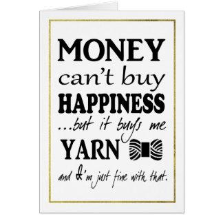 ヤーンは幸福の模造のな金ゴールドのボーダー技術です カード