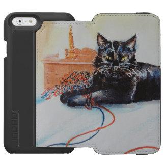ヤーンを持つ黒猫 INCIPIO WATSON™ iPhone 6 ウォレットケース