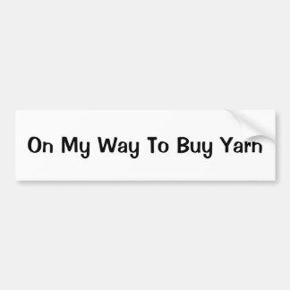 ヤーンを買う私の方法 バンパーステッカー