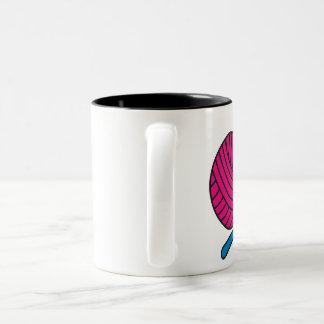 ヤーン愛-かぎ針編みのマグ ツートーンマグカップ