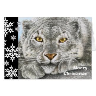 ユキヒョウのクリスマスカード グリーティングカード