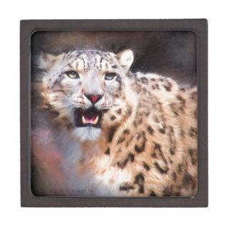 ユキヒョウの絵画 ギフトボックス
