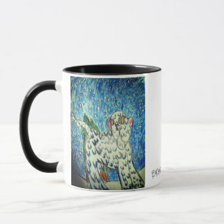 ユキヒョウの芸術1 マグカップ
