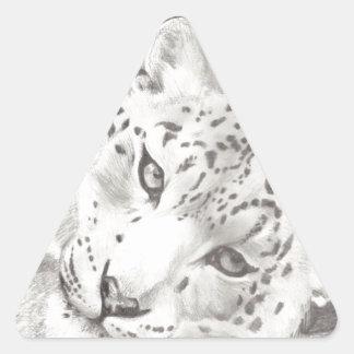 ユキヒョウ 三角形シール