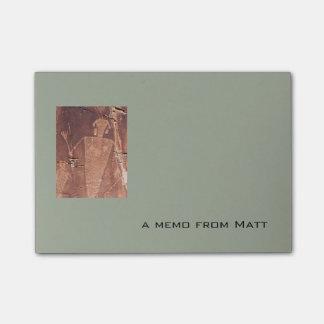 ユタの岩石彫刻の写真および文字のメモのテンプレート ポストイット