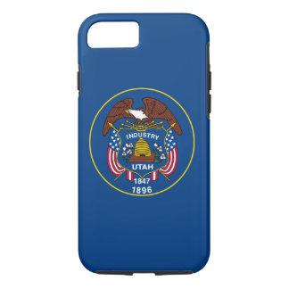 ユタの州の旗のデザインの装飾 iPhone 8/7ケース