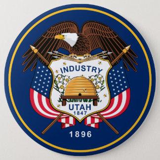 ユタの州の旗 缶バッジ