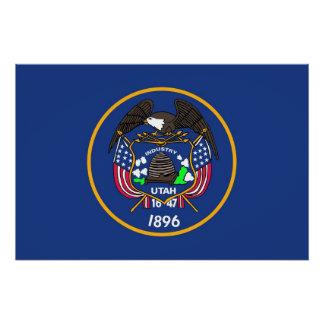 ユタの旗が付いている愛国心が強いポスター ポスター