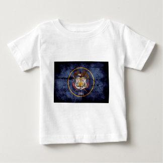ユタの旗の素朴なデザイン ベビーTシャツ