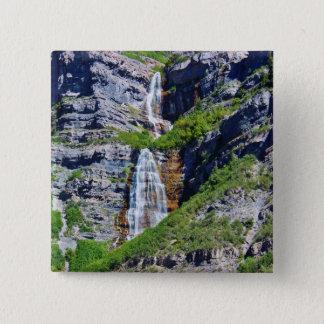 ユタの滝#1a-ボタン/Pin -シダのサバンナによる… 5.1cm 正方形バッジ
