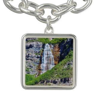 ユタの滝#1B -チャームブレスレット-正方形 チャームブレス