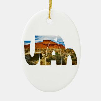 ユタの砂漠のロゴ セラミックオーナメント