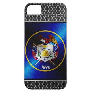 ユタは金属の旗にブラシをかけました iPhone SE/5/5s ケース