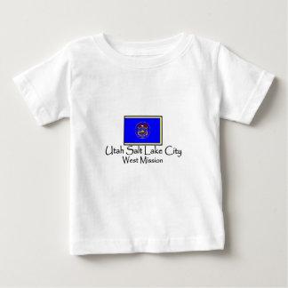 ユタソルト・レーク・シティ西LDSの代表団のTシャツ ベビーTシャツ