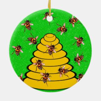 ユタミツバチの巣の州 セラミックオーナメント