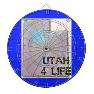 """""""ユタ4生命""""の州の地図のプライドのデザイン ダーツボード"""