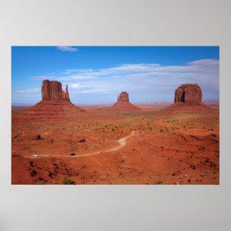 ユタ。 アリゾナのボーダー、ナバホー人の国家、記念碑 ポスター