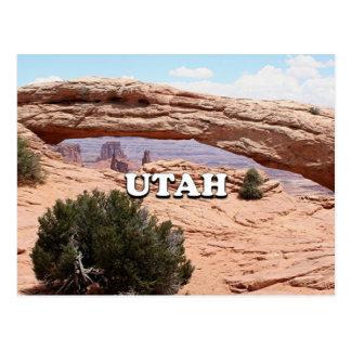 ユタ: メサのアーチ、Canyonlandsの国立公園、米国 ポストカード