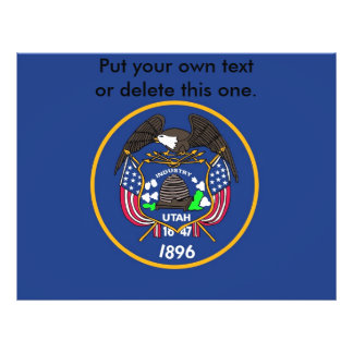 ユタ、米国の旗が付いているフライヤ チラシ