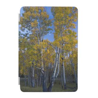 ユタ。 米国. 薄暗がりの《植物》アスペンの木そして月 iPad MINIカバー