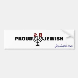 ユダヤ人があること誇りを持った! バンパーステッカー