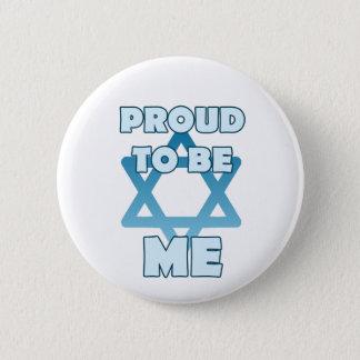 ユダヤ人があること誇りを持った 5.7CM 丸型バッジ