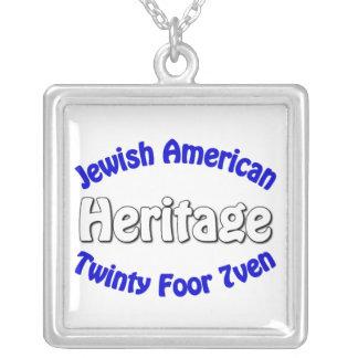 ユダヤ人のアメリカの伝統 シルバープレートネックレス