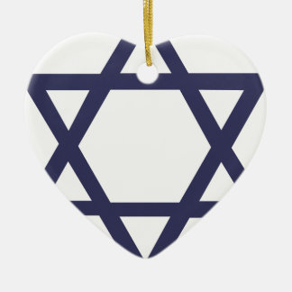 ユダヤ人のダビデの星 セラミックオーナメント