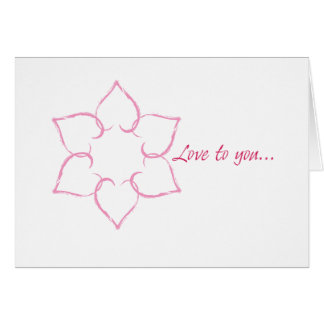 ユダヤ人のバレンタイン: ダビデの星のハート カード