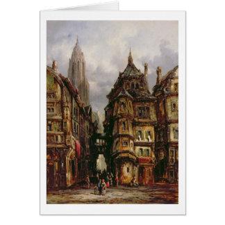 ユダヤ人の四分の一、ブランクフルト1877年の眺め(油 カード