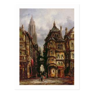 ユダヤ人の四分の一、ブランクフルト1877年の眺め(油 ポストカード