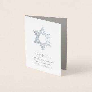 ユダヤ人の悔やみや弔慰は銀ぱくの星デイヴィッド感謝していしています 箔カード