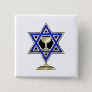 ユダヤ人の星 5.1CM 正方形バッジ