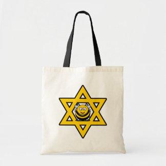 ユダヤ人の蜂のダビデの星 トートバッグ