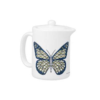 ユダヤ人の(昆虫)オオカバマダラ、モナークの茶ポット