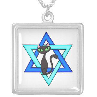 ユダヤ人猫の星 シルバープレートネックレス