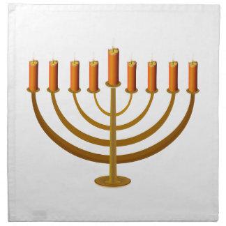 ユダヤ人candleholderの燭台ハヌカーの良否を明りにすかして調べます ナプキンクロス