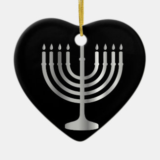 ユダヤ教の(ユダヤ教)メノラー セラミックオーナメント