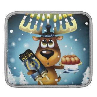 (ユダヤ教)メノラーのトナカイ iPadスリーブ