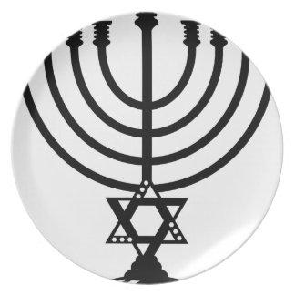 (ユダヤ教)メノラーのベクトル プレート