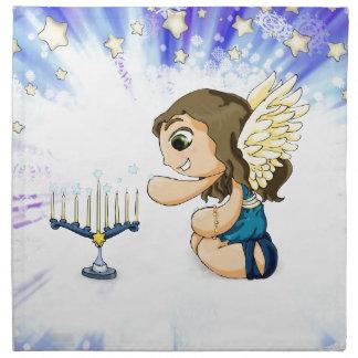 (ユダヤ教)メノラーの天使 ナプキンクロス
