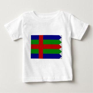 ユトランド半島(デンマーク)の旗 ベビーTシャツ