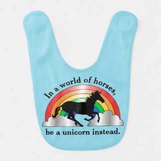 ユニコーンおよび虹はユニコーンです ベビービブ