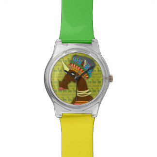 ユニコーンのアフリカ人の女王 腕時計