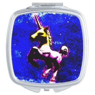 ユニコーンのコンパクトの鏡の正方形(パンクのカップケーキ)