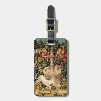 ユニコーンのタペストリーの中世芸術 ラゲッジタグ