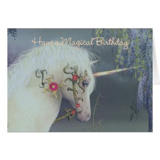 ユニコーンのバースデー・カードの魔法の誕生日 カード